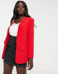 Красный блейзер с лацканами и карманом Morgan