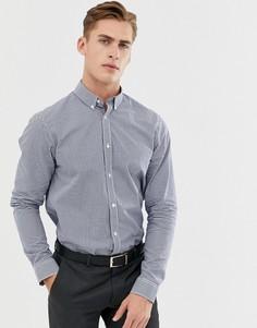 Темно-синяя рубашка в клетку Ben Sherman-Темно-синий