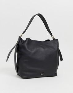 Кожаная сумка-мешок Paul Costelloe-Черный