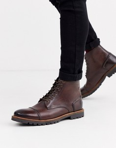 Коричневые ботинки Base London Emerson-Коричневый