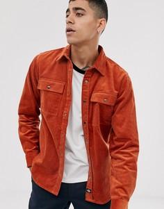 Оранжевая вельветовая рубашка Dickies Ivel-Оранжевый