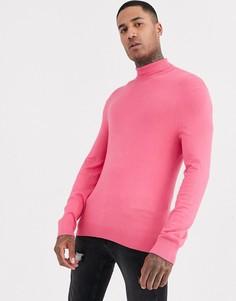 Розовая водолазка Bershka-Розовый