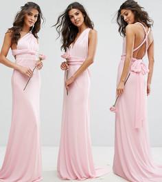Платье-трансформер макси TFNC Bridesmaid-Розовый