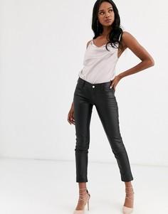 Зауженные брюки Lab Leather-Черный