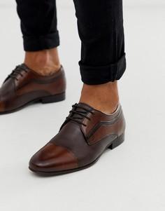 Кожаные коричневые туфли на шнуровке Depp London-Коричневый