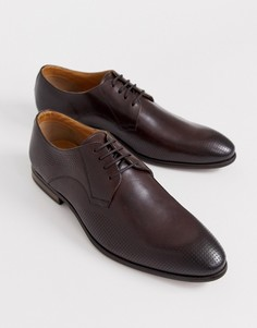 Коричневые кожаные туфли со шнуровкой Depp London-Коричневый