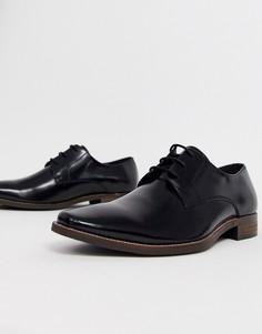 Черные кожаные туфли на шнуровке Dune-Черный
