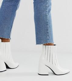 Белые лакированные ботинки челси на каблуке Z_Code_Z Exclusive Idaa-Белый