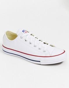 Белые кожаные кеды Converse Chuck Taylor All Star Ox-Белый