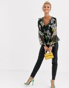Блузка с принтом Lipsy-Мульти