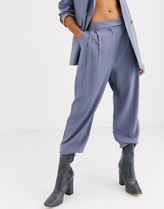 Голубые брюки Topshop-Синий