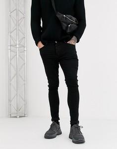 Черные джинсы скинни Hermano-Черный