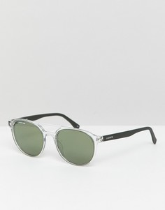 Круглые солнцезащитные очки Lacoste L881S-Очистить