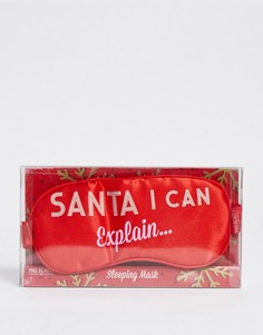 """Маска для сна с надписью \Santa I Can Explain\"""" Jingle Ladies-Бесцветный Beauty Extras"""