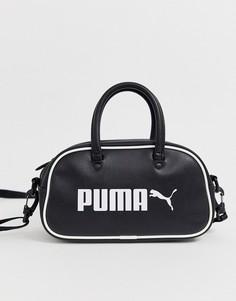 Черная маленькая сумка Puma Campus-Черный