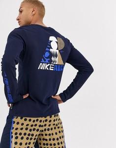 Темно-синяя футболка с длинным рукавом Nike Running x Cody Hudson-Синий