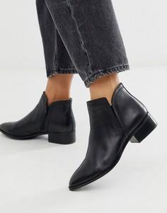 Черные низкие кожаные ботинки ALDO Kaicien-Черный