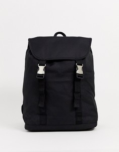 Черный рюкзак с двойными ремешками ASOS DESIGN