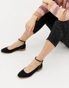 Туфли на плоской подошве ASOS DESIGN Molly-Черный