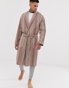 Классический легкий халат в полоску Paul Smith-Мульти