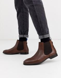 Коричневые кожаные ботинки челси Ben Sherman-Коричневый