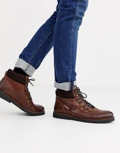 Кожаные светло-коричневые походные ботинки на массивной подошве Dune-Светло-коричневый