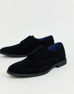 Черные замшевые туфли дерби Burton Menswear-Черный