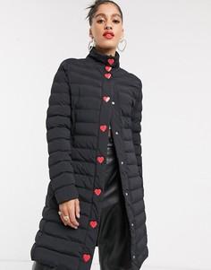 Стеганое пальто Love Moschino-Черный
