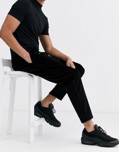 Черные вельветовые брюки New Look-Черный