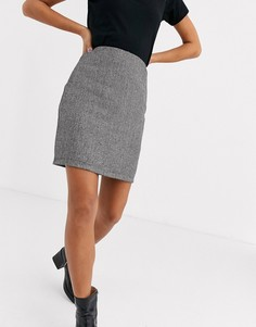 Короткая юбка-трапеция серого цвета Parisian-Серый