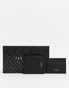 Бумажник и кредитница в подарочном наборе Ted Baker - Grenada RFID-Черный