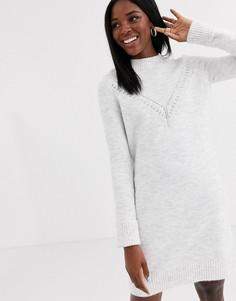Серое платье-джемпер Pimkie-Серый