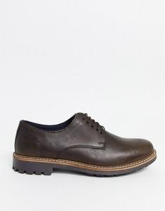 Коричневые кожаные туфли на шнуровке Red Tape-Коричневый