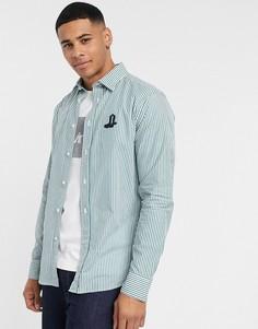 Рубашка в полоску с длинными рукавами Calvin Klein-Зеленый