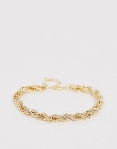 Браслет в винтажном стиле ASOS DESIGN-Золотой