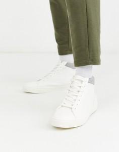 Высокие белые кроссовки чукка Topman-Белый