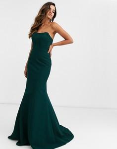 Платье-бандо Jovani-Синий