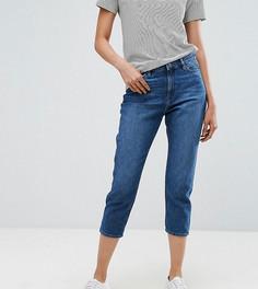 Укороченные джинсы в винтажном стиле Esprit-Синий