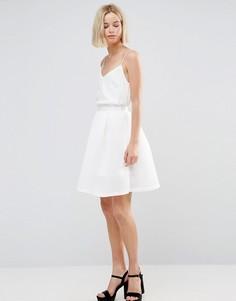 Сетчатая юбка-трапеция Glamorous-Белый