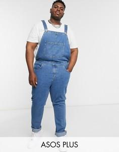 Синий джинсовый комбинезон ASOS DESIGN Plus