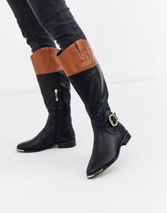 Черно-коричневые походные ботинки с пряжками River Island-Мульти