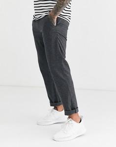 Серые узкие чиносы в гусиную лапку Esprit-Серый