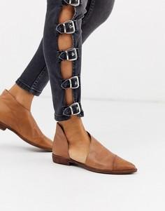 Туфли на плоской подошве Free People-Коричневый