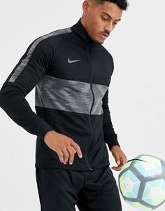 Черная олимпийка со вставками Nike Football strike-Черный