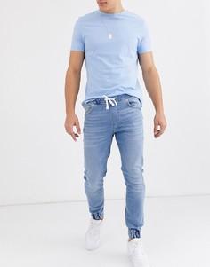 Голубые джинсовые джоггеры River Island-Синий