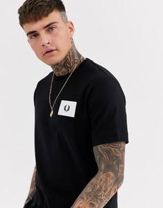 Черная футболка с логотипом Fred Perry-Черный
