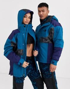 Непромокаемая утепленная куртка синего/кораллового/серого цвета с принтом The North Face 94 Rage-Синий
