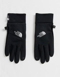 Черно-серебристые перчатки The North Face Lunar Etip-Черный