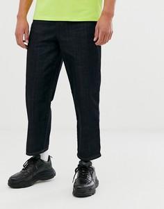 Широкие джинсы цвета индиго Religion-Синий