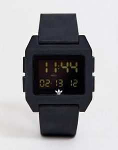 Черные электронные часы с силиконовым ремешком adidas - SP1 Archive-Черный